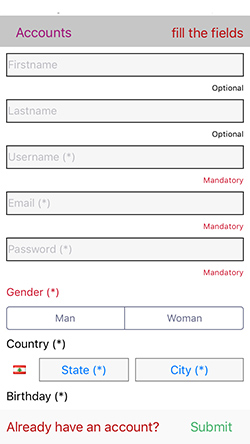 dating websites application